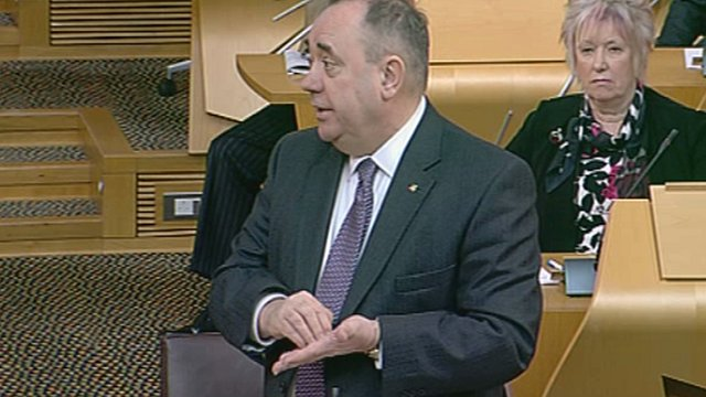 Alex Salmond defended the NHS waiting list system under attack from the leaders of Scottish Labour and the Scottish Liberal Democrats