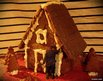 Ginger bread house with a person Photoshopped on