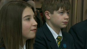 Students at Holy Trinity School, Barnsley