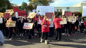 Campaigners protest against the closure of Castlebrae High