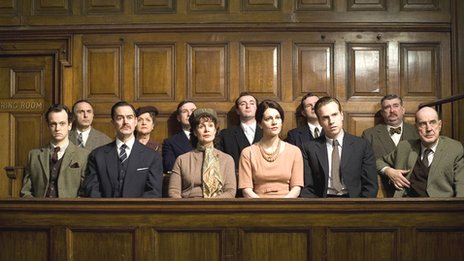 Jury in courtroom drama
