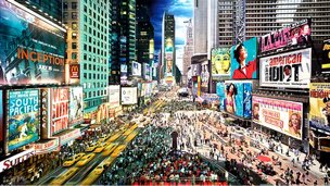 Times Square, New York, composite image