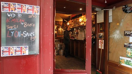 View of the Smoking Dog pub in Lyon on Thursday
