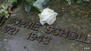 Sophie Scholl's grave