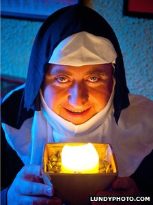 Christy Walsh dressed as a nun