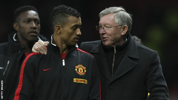 Nani and Sir Alex Ferguson