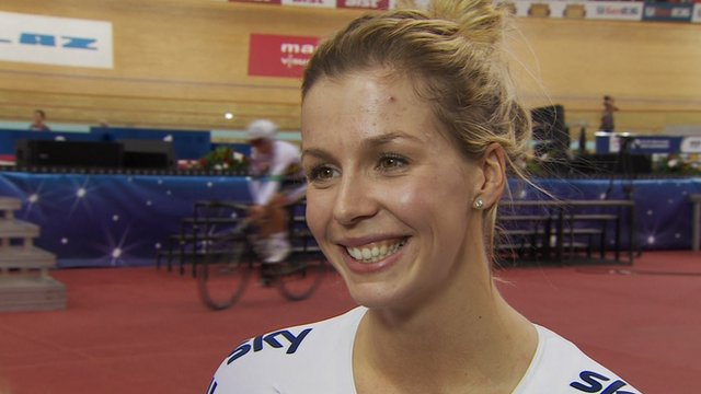 Women's 500m time trial bronze medallist Becky James