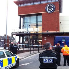 Scene of armed raid in Newcastle