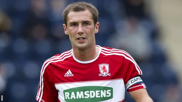 Kevin Thomson during his time at Middlesbrough