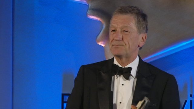Stewart White at the RTS awards in London