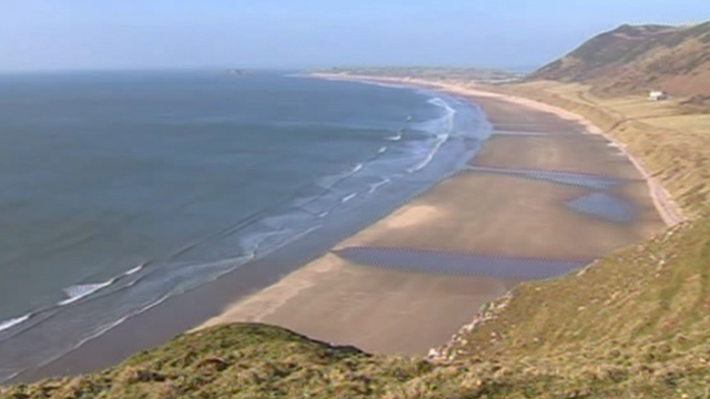 Rhossili beach