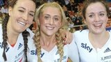 Dani King, Laura Trott and Elinor Barker