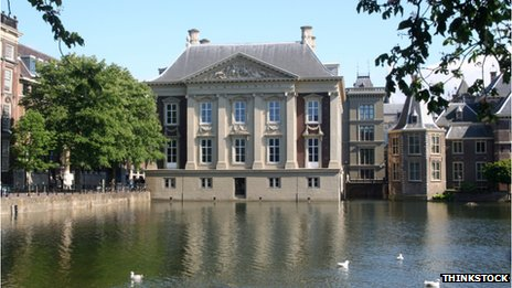 Mauritshaus in The Hague, where Elizabeth spent years in exile