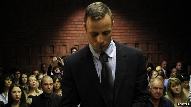 Oscar Pistorius in court on 22 February 2013