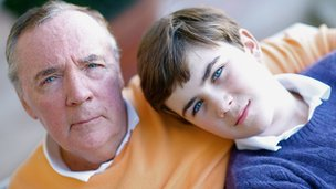 James Patterson and his son