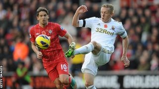 Swansea City's Garry Monk in action
