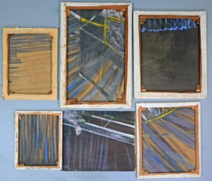 Lewis Todd's paintings from the back