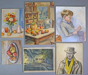 Lewis Todd's paintings from the front