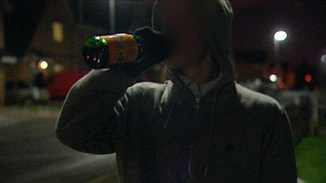 Man drinking Buckfast