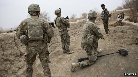 US troops in Afghanistan (1 February 2013)