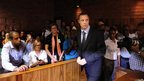 Oscar Pistorius in court in Pretoria, South Africa, 22 February 2013