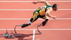 File photo of Oscar Pistorius in the Men's 400m heats at the London Olympic Games in the Olympic Stadium, London, UK