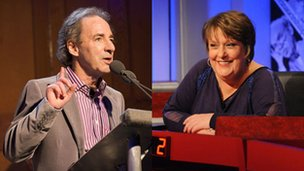 Kathy Burke and Harry Shearer