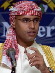 File photo of Saif al-Islam Gaddafi (10 November 2004)