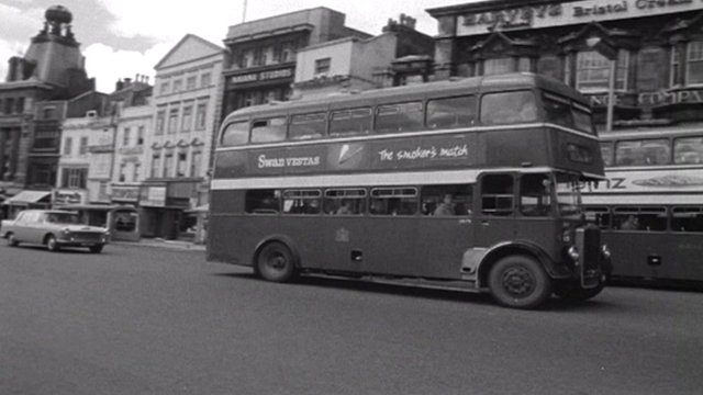 Bus in Bristol during 1960s