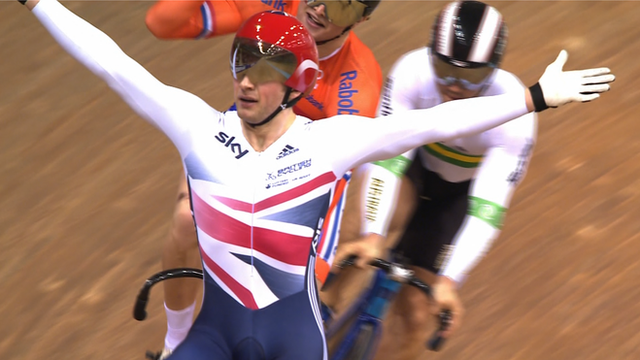 Keirin world champion Jason Kenny