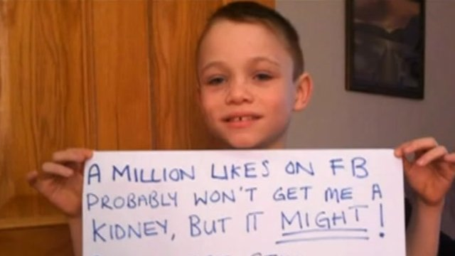 Matthew has dialysis for 12 hours every day