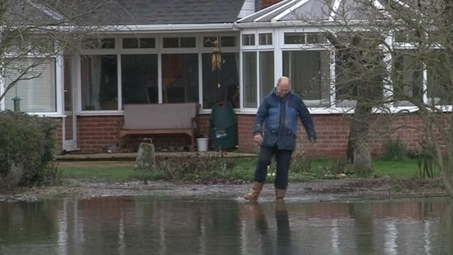 Richard Berkley's home in Playhatch was surrounded by sewage