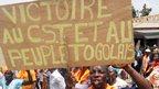 A protest in Lome, Togo - Saturday 16 February 2013