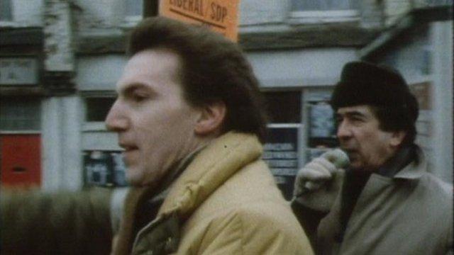Simon Hughes on 1983 campaign trail