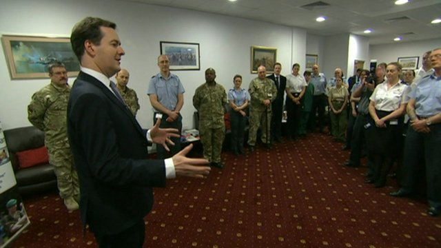 George Osborne address military personnel
