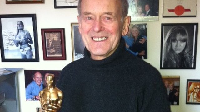Norman Wanstall with his Oscar