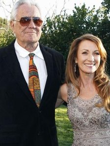 George Lazenby and Jane Seymour