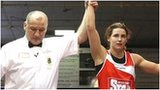 Katie Taylor (right) is awarded victory over Karolina Graczyk in Dublin