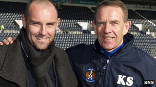 Kilmarnock manager Kenny Shiels welcomes Kris Boyd back to Rugby ParK