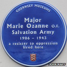 Blue plaque for Marie Ozanne unveiled in Guernsey