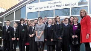 The team of pupils from Glenmoor and Winton Federated Trust