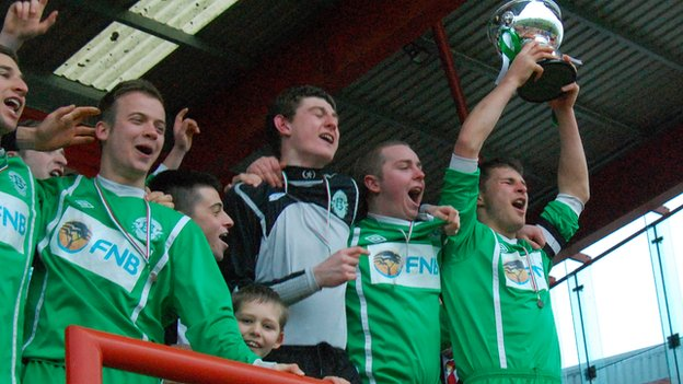 Guernsey lift the trophy