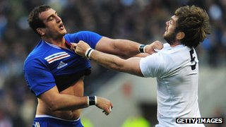 France's Yoann Maestri and England's Geoff Parling