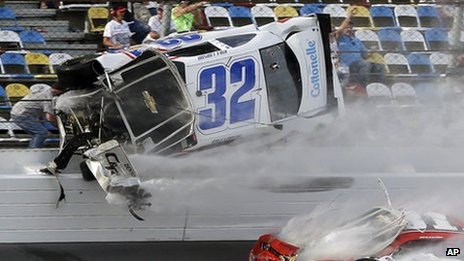 Crash at Daytona race. Photo: 23 February 2013