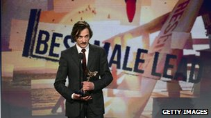 Actor John Hawkes accepts the award for Best Male Lead onstage during the 2013 Film Independent Spirit Awards at Santa Monica Beach
