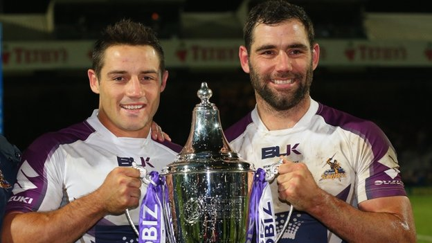 Melbourne's Cooper Cronk and Cameron Smith