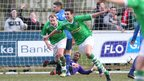 Joe Gormley celebrates after his superb strike gave leaders Cliftonville a 1-0 win away to Ballinamallard United