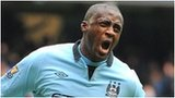 Yaya Toure celebrates his opening goal