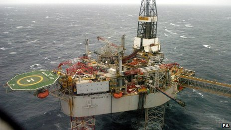 Buzzard platform in the North Sea