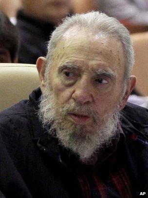 Fidel Castro attends Cuba parliament